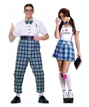 Nerd Men And Women I Love Nerds Men And Women Couples Costumes Set