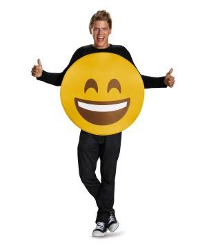 Smile Emoticon Open Mouth Men Costume
