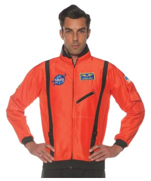 Orange Space Flight Men Jacket
