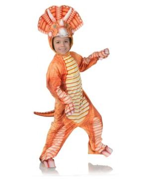 Orange Triceratops Child Costume