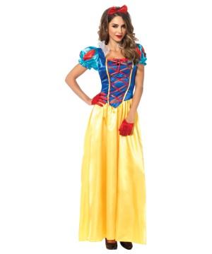 Disney Princess Snow White Womens Costume Halloween Party Dress