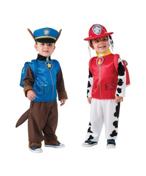 Paw Patrol Marshall And Chase Boys Costume Combo