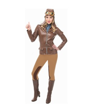 Lady Lindy Flying Pilot Woman Costume