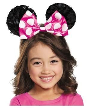 Disney Pink Minnie Big Girls Sequin Ears