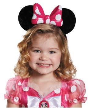 Disney Minnie Mouse Pink Big Girls Ears