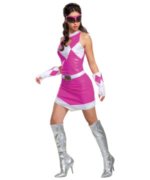 Pink Ranger Womens Costume Mighty Morphin