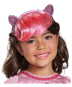 Pinkie Headpiece With Hair Child Little Pony