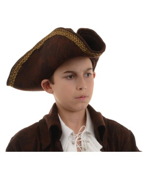 Pirate Captain Brown Hat