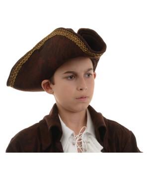 Pirate Captain Brown Hat