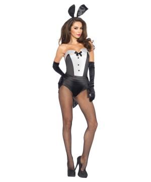 Sexy Womens Bunny Tuxedo Costume