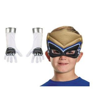 Gold Power Rangers Dino Charge Boys Mask And Gloves Set