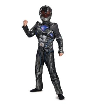 Boys Power Rangers Movie Black Ranger Muscle Costume