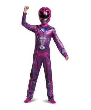 Girls Pink Power Ranger Movie Costume