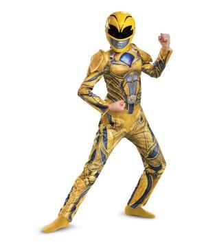Kids Yellow Power Ranger Movie Costume