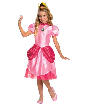 Princess Peach Girls Costume