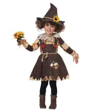 Pumpkin Scarecrow Girls Costume