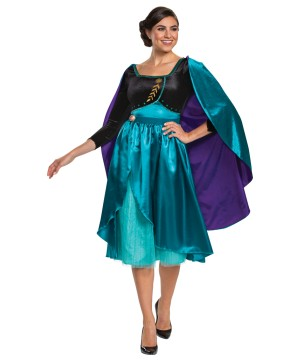 Womens Queen Anna Dress Costume