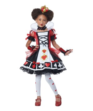 Queen Of Hearts Girls Costume Deluxe
