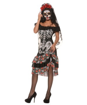 Day Of The Dead Queen Women Costume