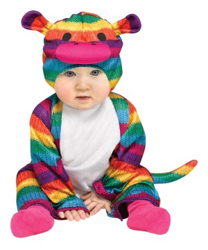 Rainbow Sock Monkey Baby Colorful Halloween Costume