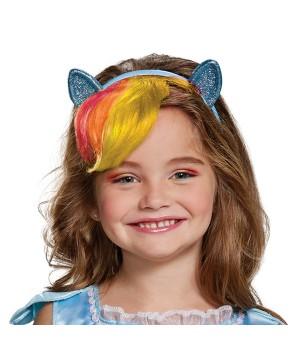 Rainbow Dash Headpiece With Hair Child Little Pony
