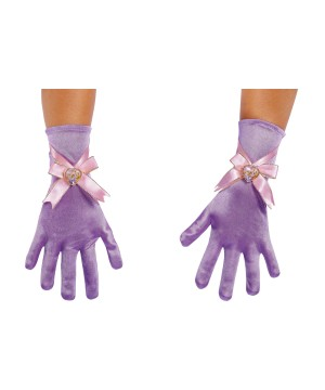 Girls Rapunzel Costume Gloves