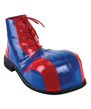 Red And Blue Deluxe Clown Shoes