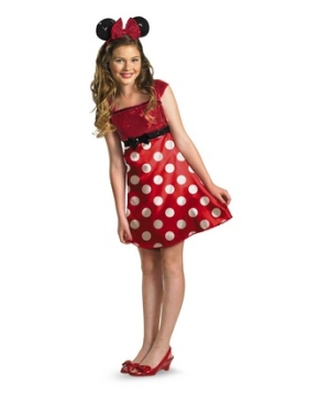 Red Minnie Mouse Kids Tween Costume