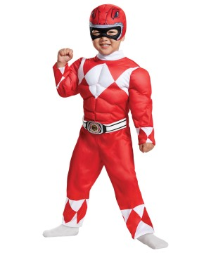 Red Power Ranger Toddler Costume