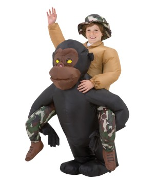 Riding Gorilla Inflatable Boys Costume