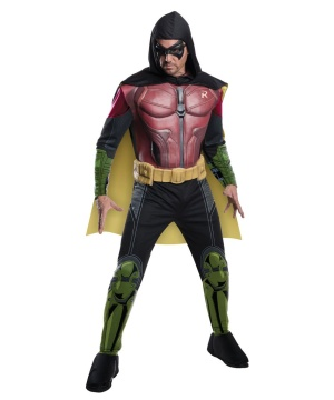 Robin Arkham Asylum Mens Costume Video Game Batman's Sidekick Hero