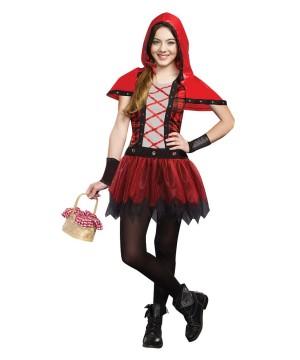 Rockin Red Riding Hood Goth Alternative Tween Girls Costume