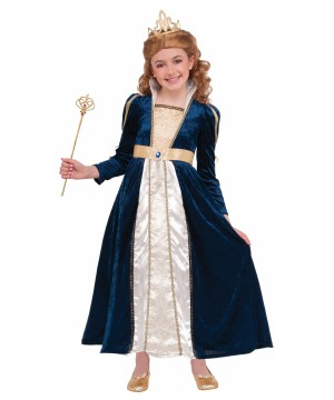 Navy Blue Princess Girls Costume