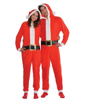 Santa Zipster Jumpsuit Men or Women Costume