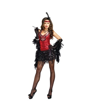 Sexy 1920s Shimmy Shake Roaring Twenties Gatsby Flapper Womens Costume