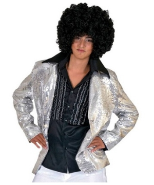 Silver Disco Adult Costume