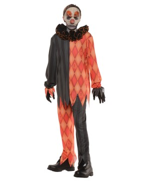Scary Sinister Clown Big Boys Costume