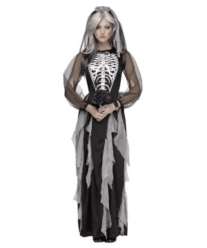 Bride Of The Night Skeleton Woman Costume