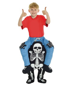 Skeleton Piggyback Boys Costume