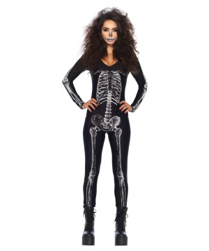 Unitard Skeleton X Ray Woman Costume