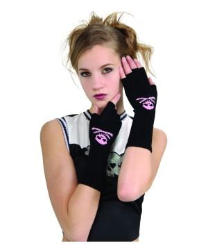 Skull And Crossbones Girls Gloves