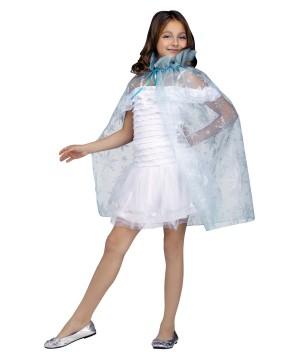 Sparkling Snowflake Queen Costume Princess Cape