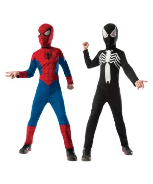 Boys Spiderman Venom Reversible Costume