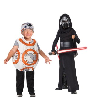 Star Wars Kylo Ren Boys And Bb8 Droid Toddler/child Costume Set