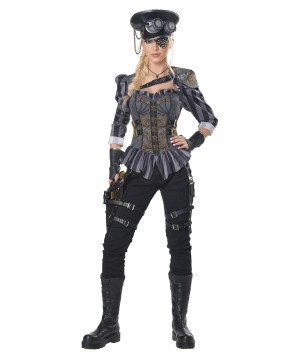 Steampunk Captain Women Costume