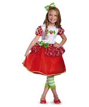 Strawberry Shortcake Little Girls Costume Dress Bow Headband Deluxe