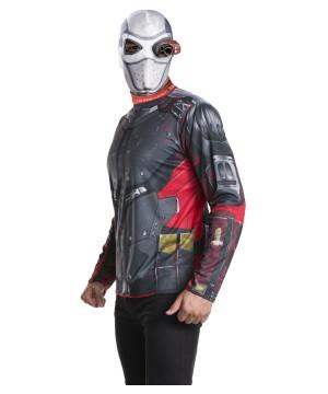 Suicide Squad Deadshot Mask And Shirt Men Costume