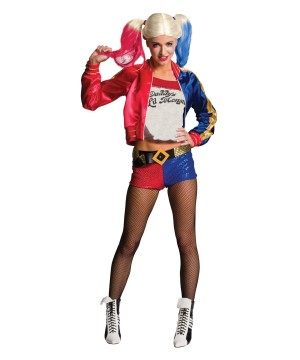 Harley Quinn Suicide Squad Costume And Wig Women Set