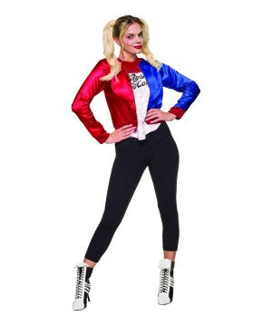 Suicide Squad Movie Harley Quinn Women Costume And Wig Set