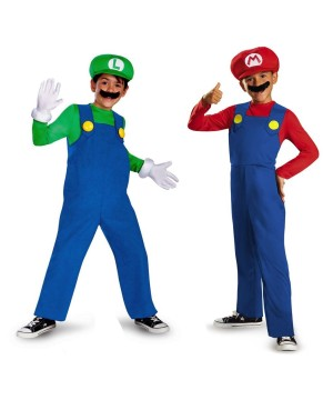 Super Mario And Lugi Boys Video Game Costumes